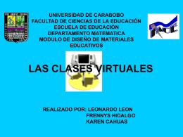 presentacion de las clases virtuales