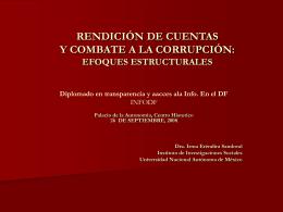 Presentación 1 de la Lic. Irma Sandoval