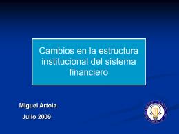 Cambios en la estructura institucional del sistema - SISJUDES-CM