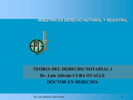 TEORIA DERECHO NOTARIAL I WINNER DR. CUBA