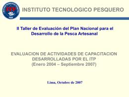 xposición Resultados ITP