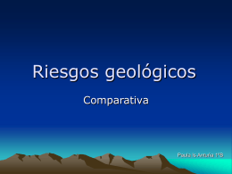 Riesgos geológicos