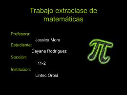 Trabajo extraclase de matemáticas