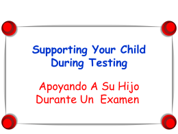 Supporting Your Child During Testing