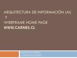 Arquitectura de Información y Wire Frame