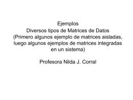 Matrices de datos Ejemplos Curso exactas (419840)