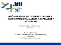 Negociaciones Mitigacion y Adaptacion al