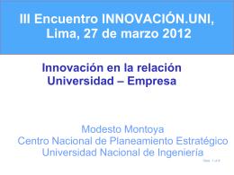 IPEN 2001 - 2005 - innovación.uni