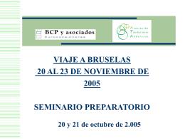 PPT Seminario Viaje Bruselas – Octubre 2005