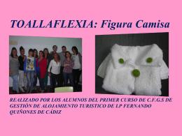 toallaflexia: camisa realizado por los alumnos del primer curso de