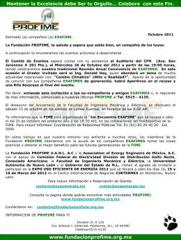 Octubre_2011 - Fundación PROFIME