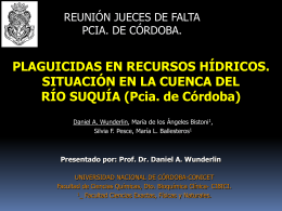 1RA.JORNADA ISEA UNC fecha 23/09/09:DR.DANIEL WUNDERLIN