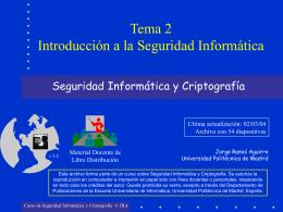 Introducción a la seguridad Informática-Tema 2