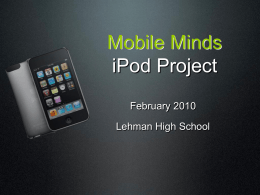 ESL iPod Project