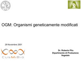 Gli OGM - CusMiBio