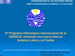 phi-unesco+foro - Red Interamericana de Recursos Hídricos