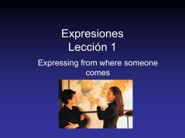 Expresiones – Lección 1