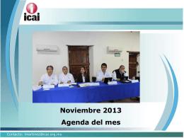 Noviembre 2013 Agenda del mes - RESI