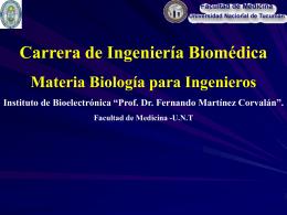 Ramas de la Biología - Facultad de Medicina