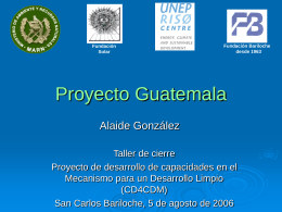 Progress in Guatemala