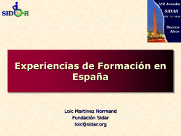 Experiencias de formación en España