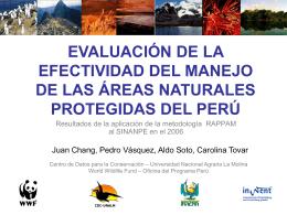evaluación de la efectividad del manejo de las áreas naturales
