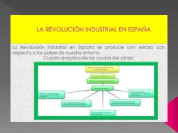 LA REVOLUCIÓN INDUSTRIAL EN ESPAÑA