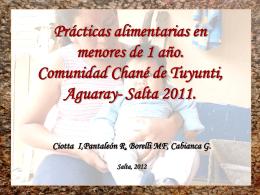 Comunidad Chané de Tuyunti, Aguaray