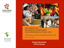 (en el territorio). - Programa Desarrollo Territorial Rural con
