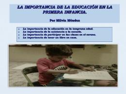 LA IMPORTANCIA DE LA EDUCACIÓN EN LA