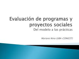 Estudio sobre la Evaluación de Proyectos Sociales en la Argentina