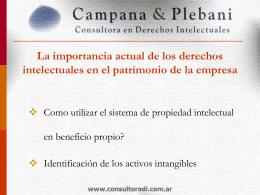 La importancia actual de los derechos intelectuales en el patrimonio