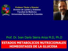 de diapositiva - División de Lípidos y Diabetes