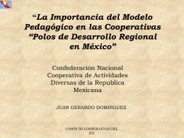 Polos de Desarrollo Regional en México