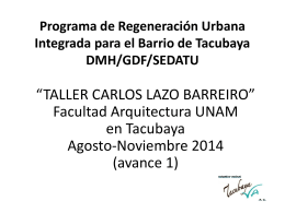 Programa de Regeneración Urbana Integrada para el Barrio de
