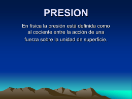 la presion