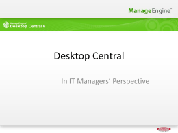 Desktop Central - ZMA IT Solutions