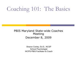 Coaching 101: The Basics