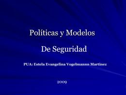 Políticas y Modelos de Seguridad.