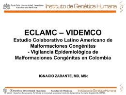 Malformaciones Congénitas en Colombia