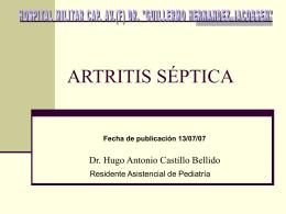 ARTRITIS SEPTICA - Cursos para Médicos