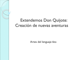 Extendemos Don Quijote - SB-DI-2008
