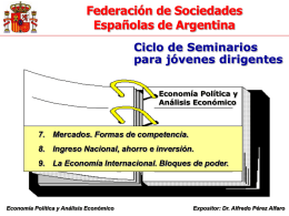 Mercados - Internacional - Ingreso