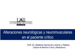 Patología neurológica y neuromuscular en el paciente