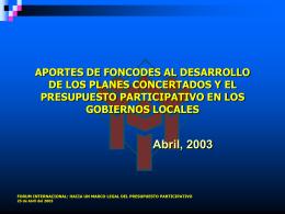 foncodes_pp - Grupo Propuesta Ciudadana