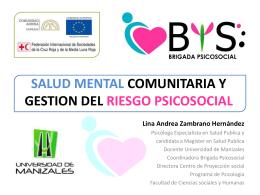 Salud Mental Comunitaria y Gestión del Riesgo