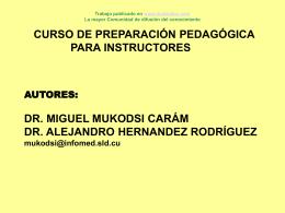 Curso de Preparación pedagógica para instructores