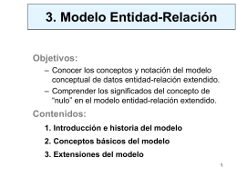 Modelo Entidad/Relación Extendido
