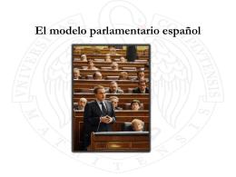El modelo parlamentario español