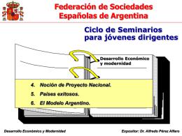 Proyecto Exitoso - Modelo Arg - Federación de Sociedades